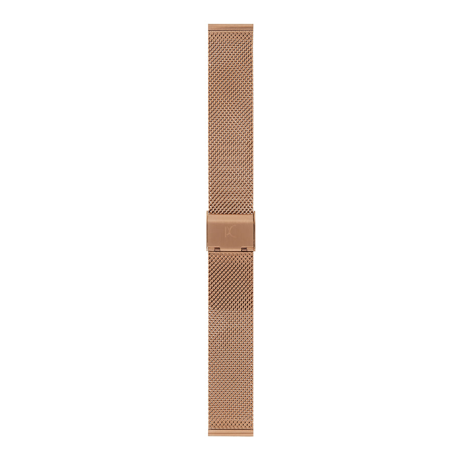 18mm Stainless Steel Strap, Rose Gold