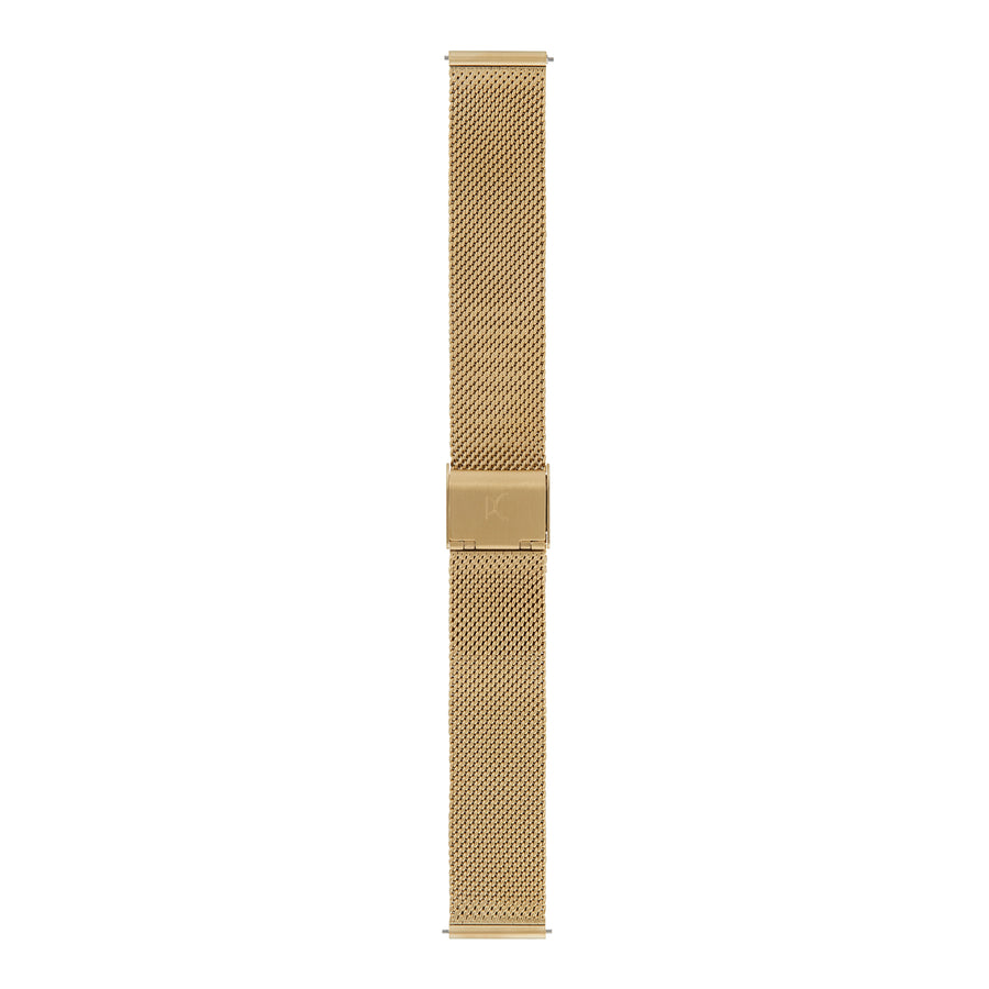 18mm Stainless Steel Strap, Gold