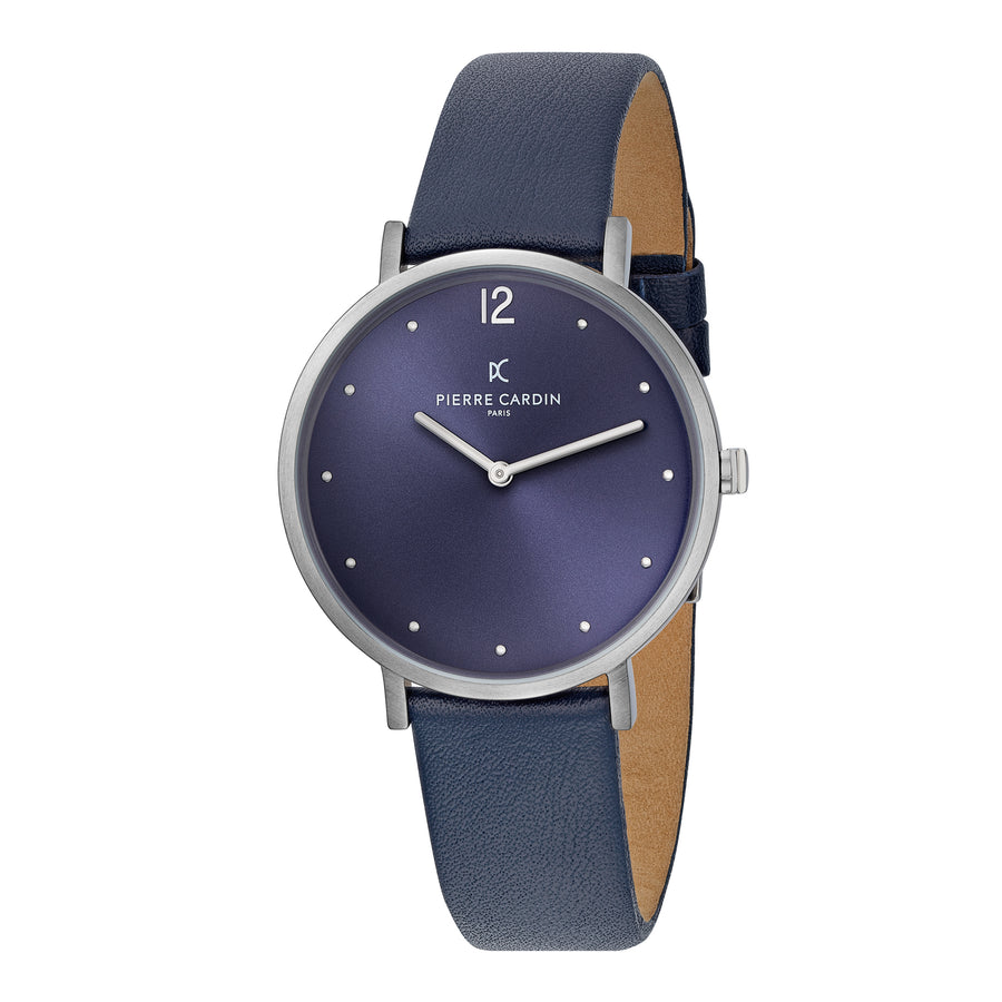 Belleville Simplicity Blue Leather Watch