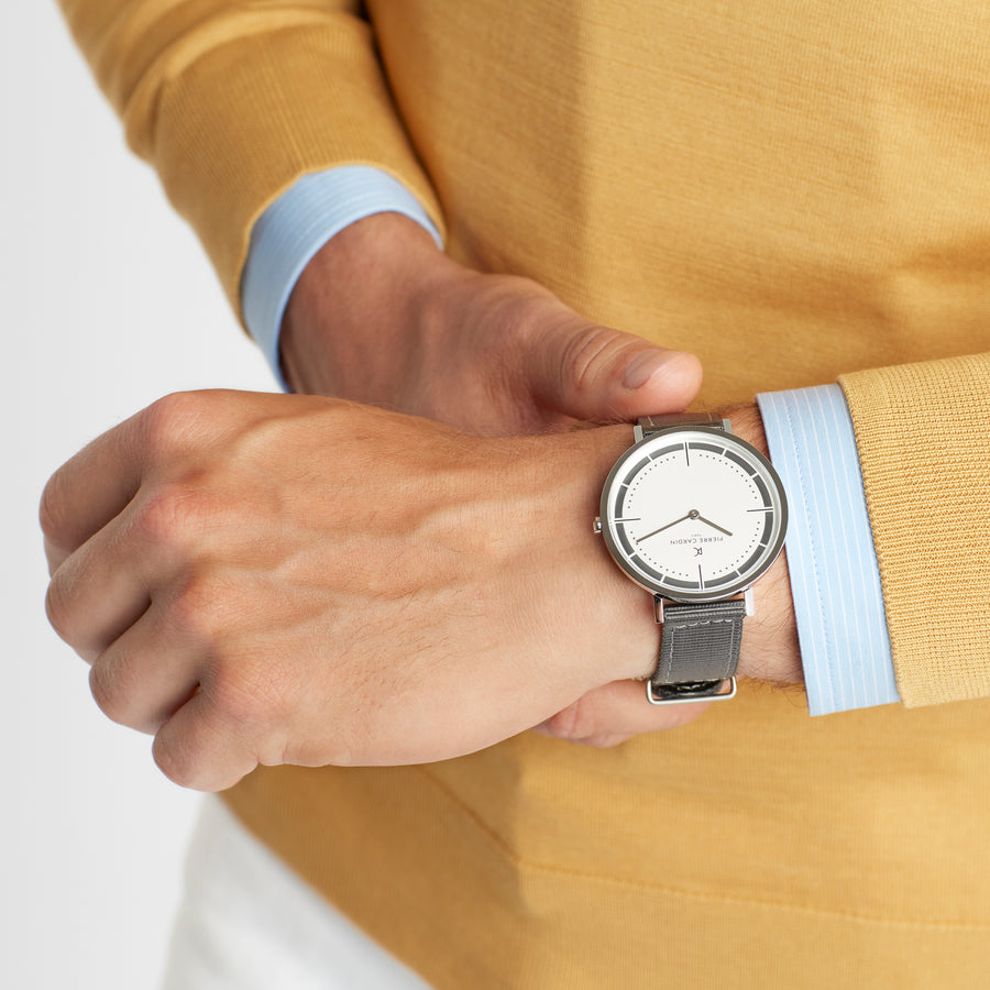 Belleville Park White Gray Nylon Watch
