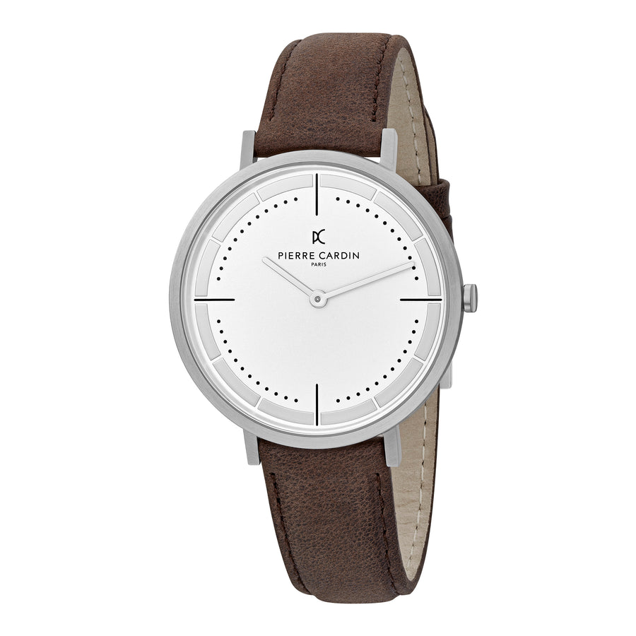 Belleville Park Brown Leather Watch