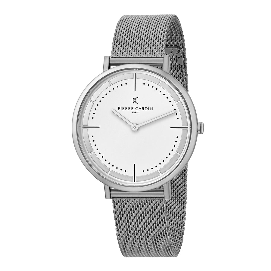 Belleville Park Stainless Steel Mesh Watch
