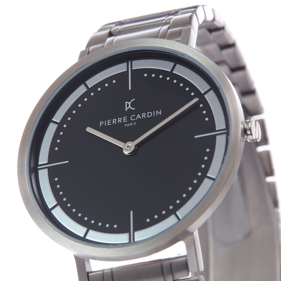 Belleville Park Black Stainless Steel Link Watch