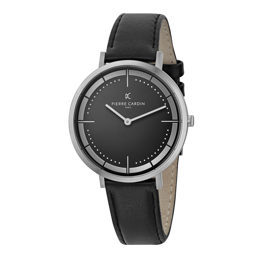 Belleville Park All Black Leather Watch