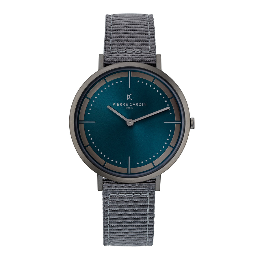 Belleville Park Blue Gray Nylon Watch