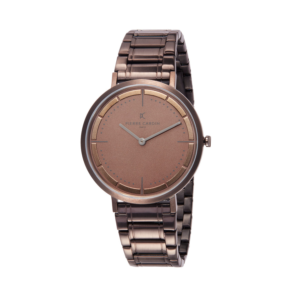Belleville Park Taupe Stainless Steel Link Watch