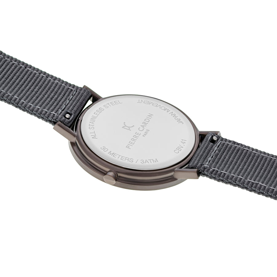 Belleville Park Taupe Gray Nylon Watch