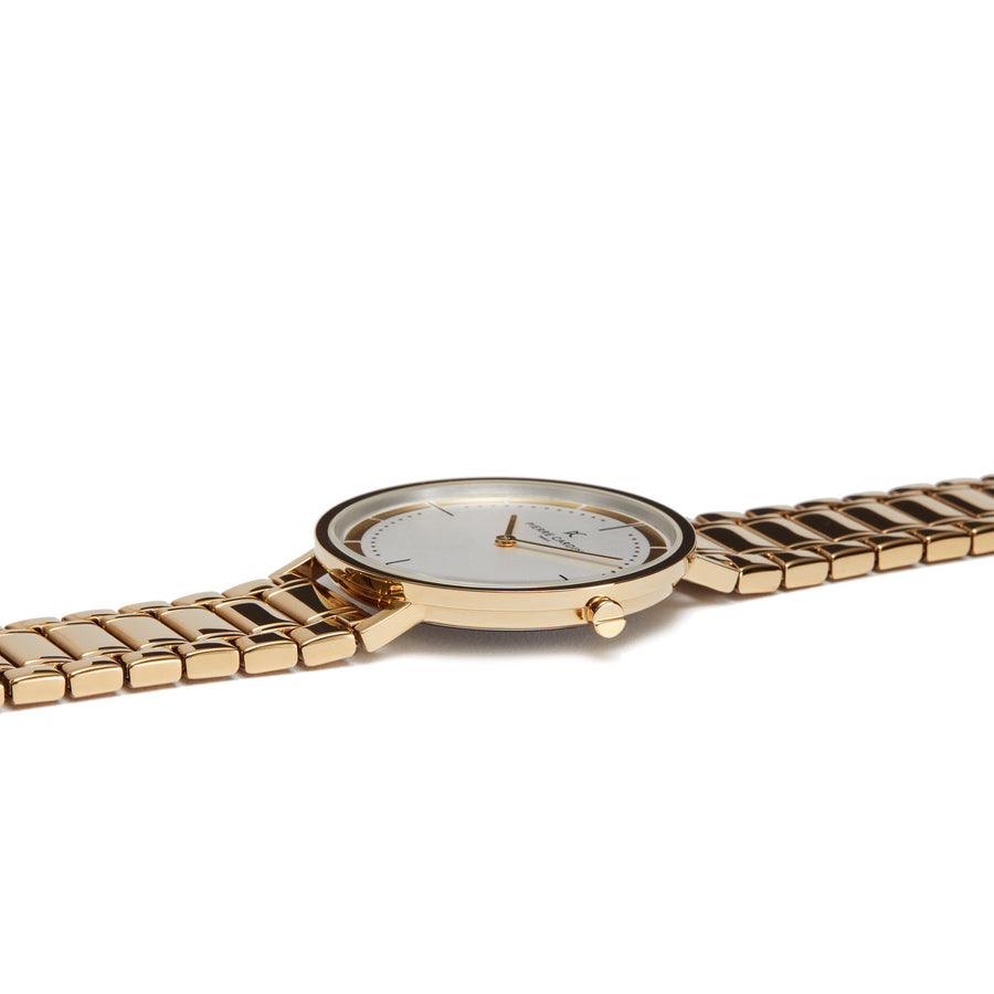 Belleville Park Gold Stainless Steel Link Watch