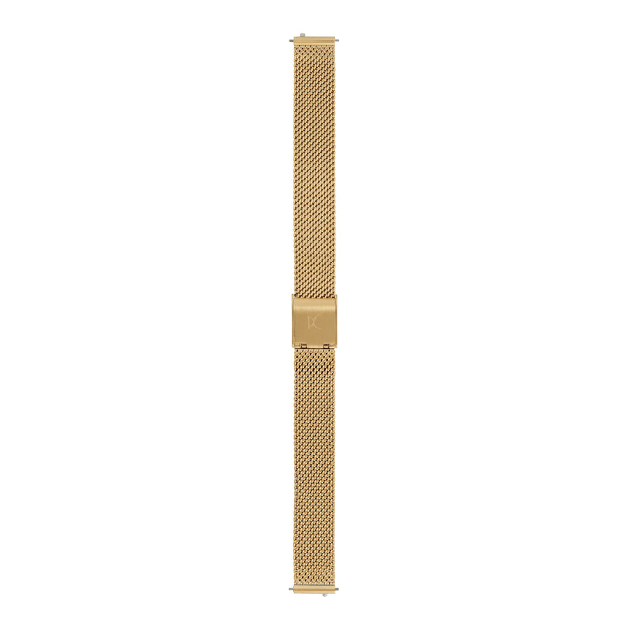 12mm Stainless Steel Mesh Strap, Gold