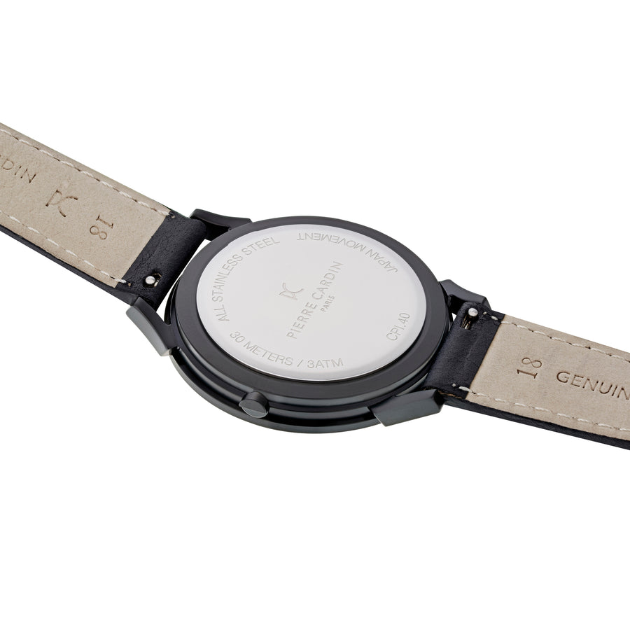 Pigalle Plissée All Black Leather Watch