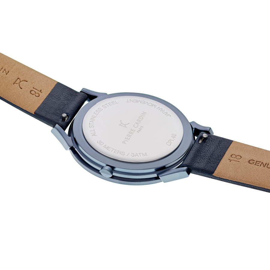 Pigalle Half Moon Blue Leather Watch