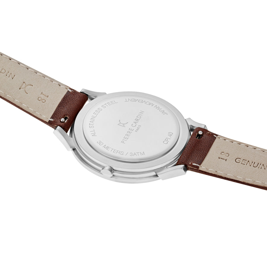 Pigalle Stripes Brown Leather Watch