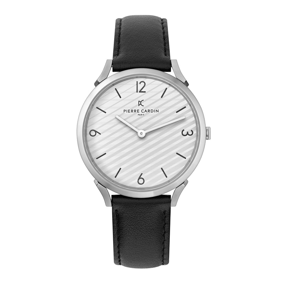 Pigalle Stripes Black Leather Watch