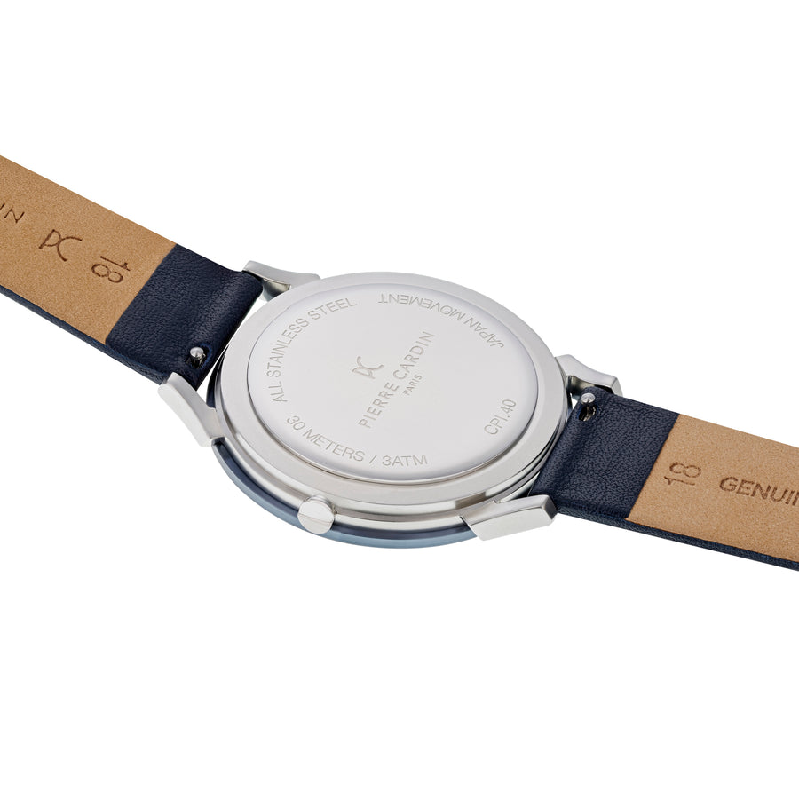 Pigalle Stripes Blue Leather Watch