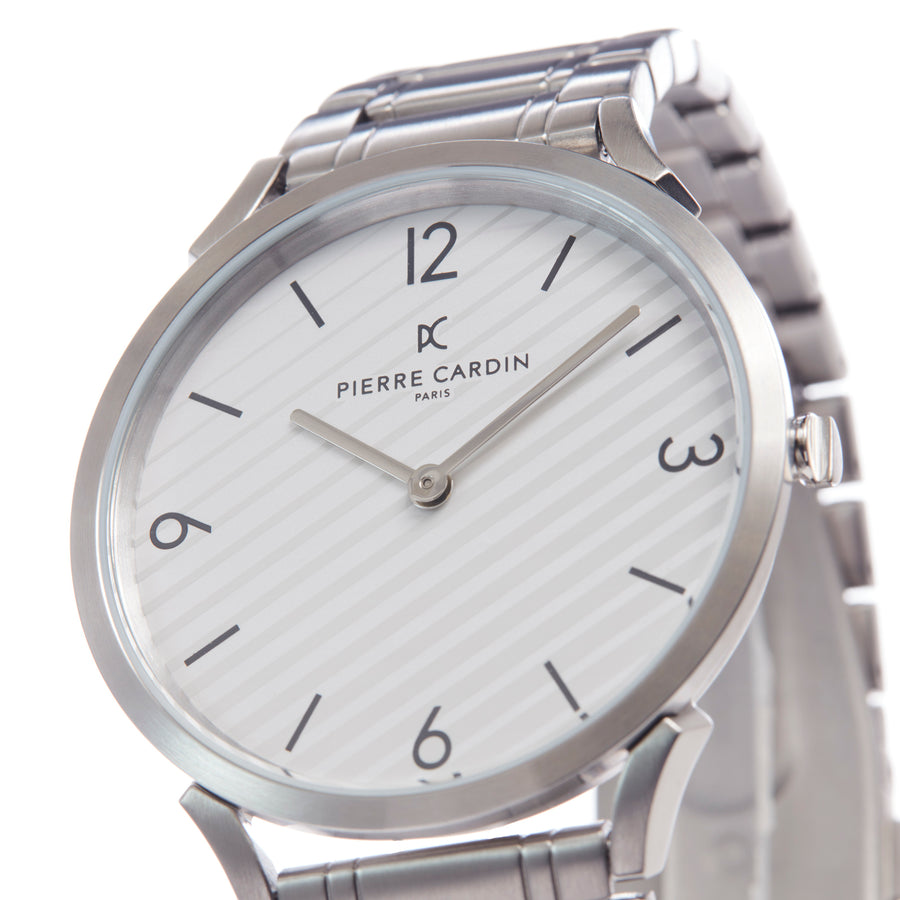 Pigalle Stripes White Stainless Steel Link Watch
