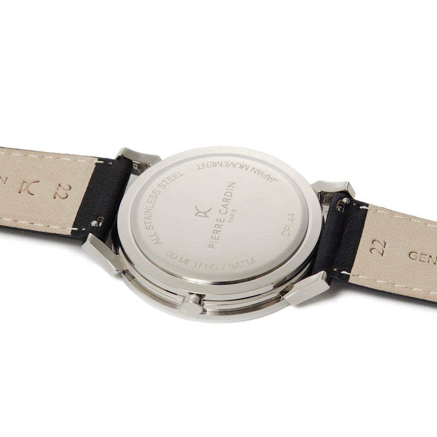 Pigalle Boulevard Silver Leather Watch