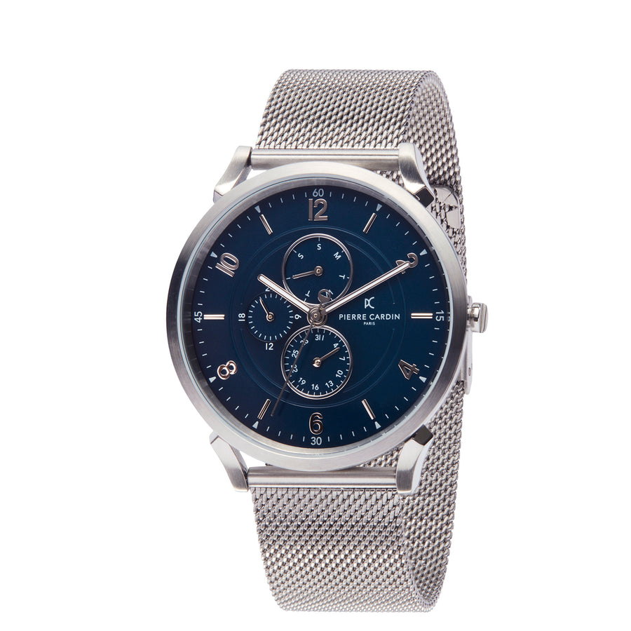 Pigalle Boulevard Blue Stainless Steel Mesh Watch