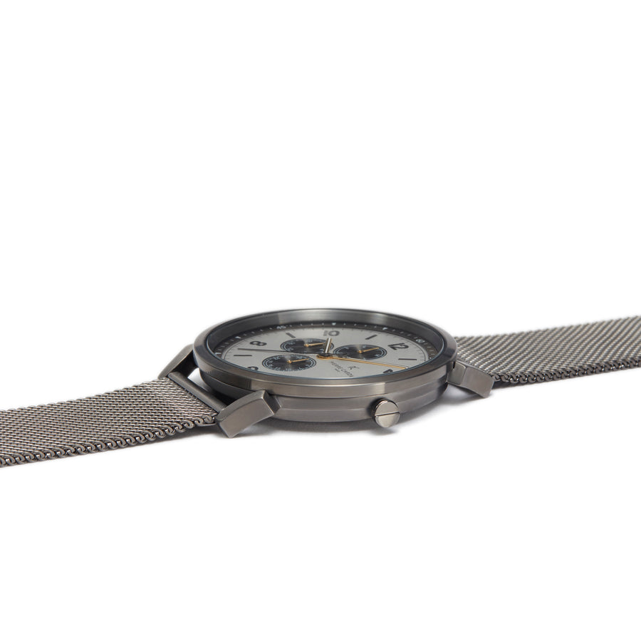 Pigalle Nine Silver Black Stainless Steel Mesh Watch