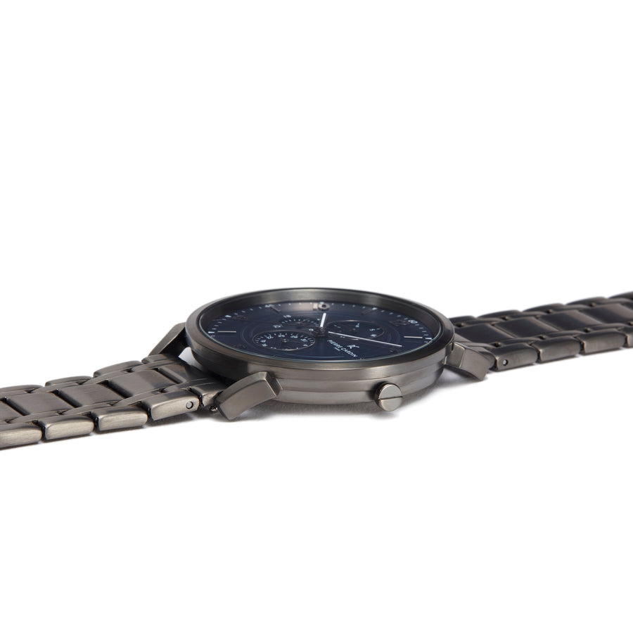 Pigalle Boulevard Blue Gun Stainless Steel Link Watch