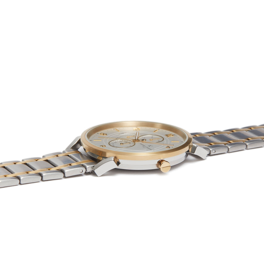 Pigalle Boulevard Two Tone Gold Stainless Steel Link Watch