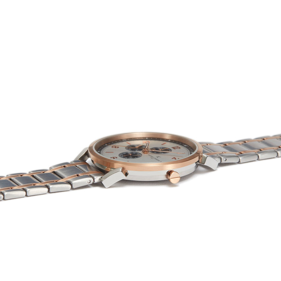 Pigalle Nine Two Tone Rose Gold Stainless Steel Link Watch