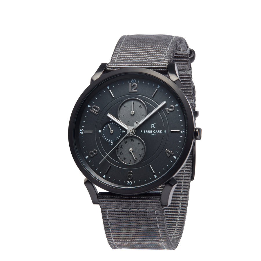 Pigalle Boulevard Black Gray Nylon Watch