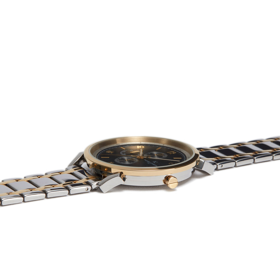 Pigalle Nine Black Two Tone Gold Stainless Steel Link Watch