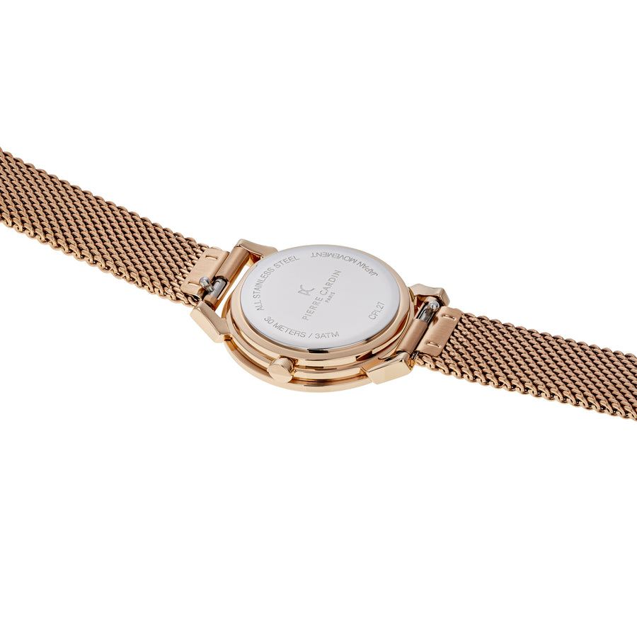 Pigalle Plissée Rose Gold Stainless Steel Mesh Watch
