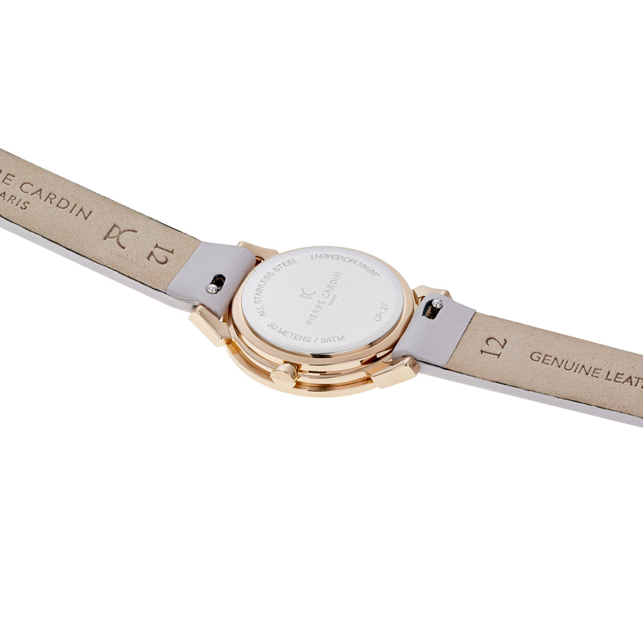 Pigalle Plissée Rose Gold Light Purple Leather Watch