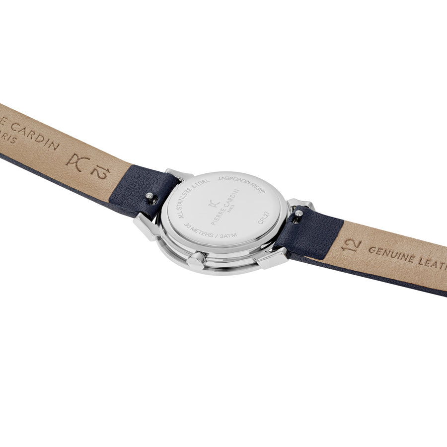 Pigalle Plissée Dark Blue Leather Watch
