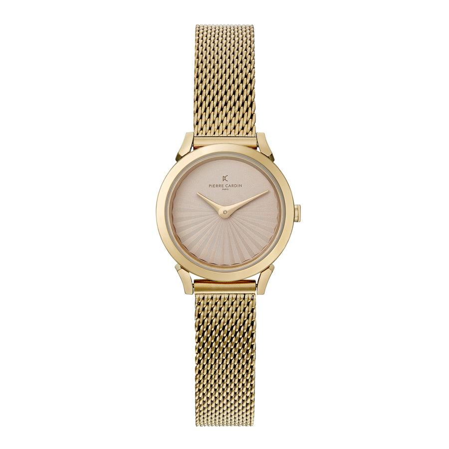 Pigalle Plissée All Gold Stainless Steel Mesh Watch