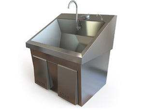 Single Bay Surgical Scrub Sink with Knee Operated Water & Soap
