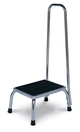 Chrome Steel Footstool with Handle