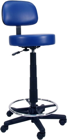 "Gas Lift Lab Stool16"" 5 Star Base Gas Lift Lab Stool W/ Black Base"