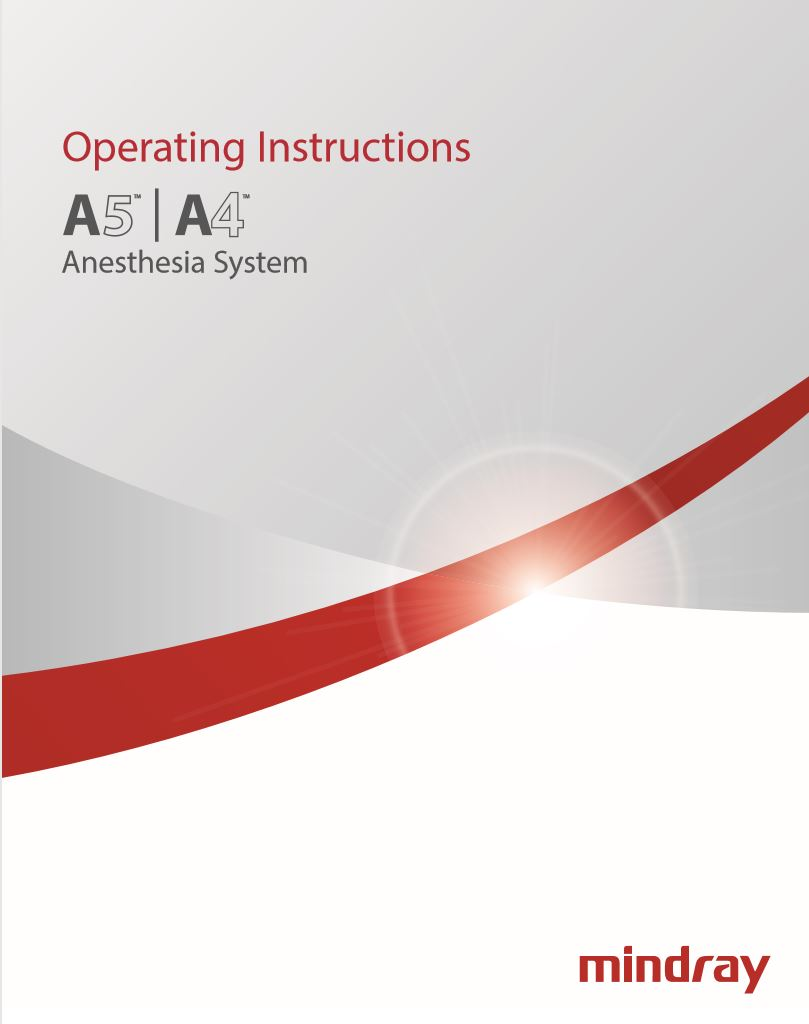 Mindray A4/A5 Advantage Operational Maunal (Hard Copy/English)
