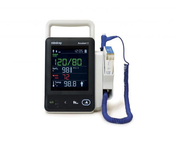 Mindray Accutorr 3 with Nellcor OxiMax SPO2, NIBP and Pulse Rate