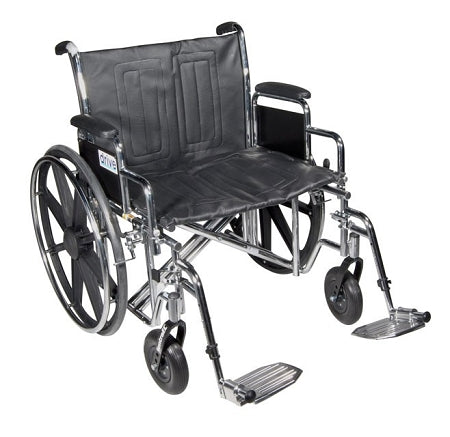 Drive Medical Sentra EC Heavy Duty Wheelchair, 24