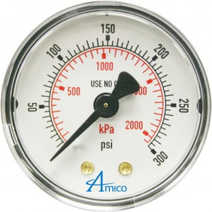 Amico Gas Gauge for Zone Valve Box and Isolation Valve