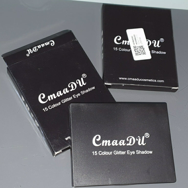 Caamdu 15 colors glitter eye shadow