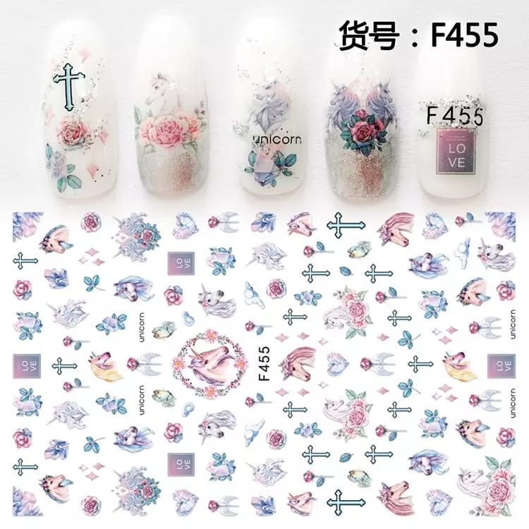 RT Feather Nail Sticker (F-455)