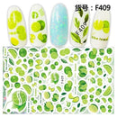 RT Lemon Abstract Nail Art Stickers (F-409)