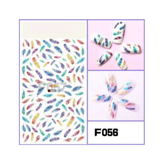 RT Feather Abstract Nail Stickers (F-056)