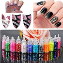 New 3D Rhinestone Nail Art Powder Sequins Glitter Manicure Tips DIY