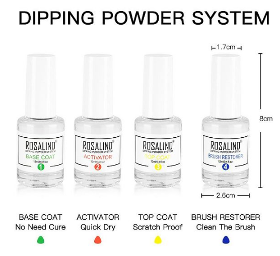Rosalind Dipping Powder System 10 Pcs