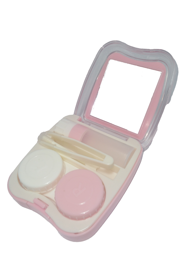 Contact Lens Case Pink Color