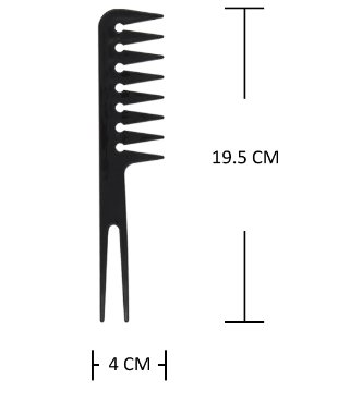 Plastic Spike Pick Tail Hair Comb Black and Red