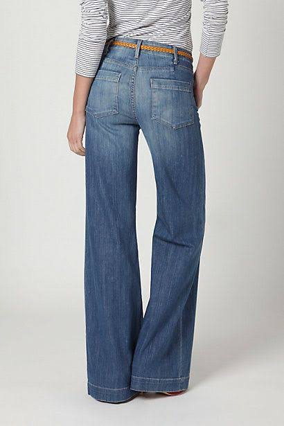 Women Flared Jeans Blue Color