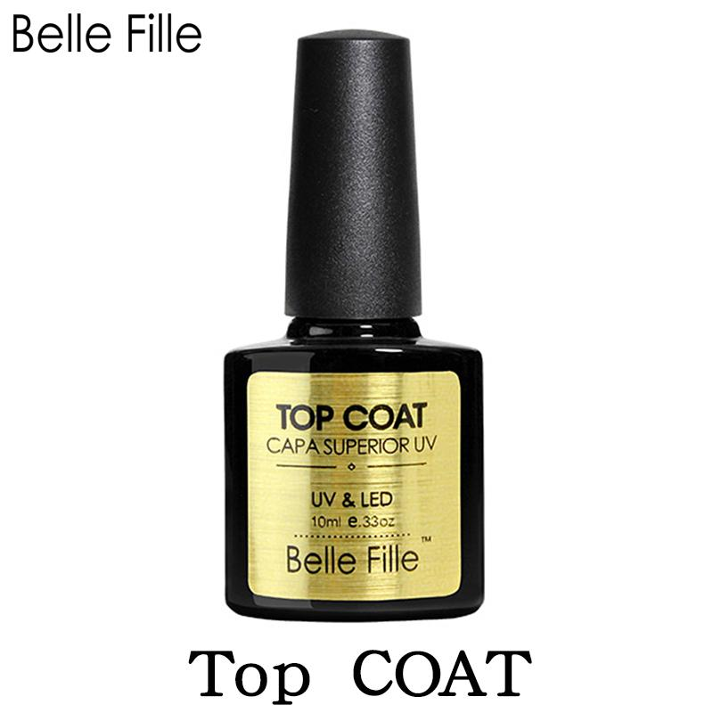 Belle Fille Capa superior UV top coat- 10ml
