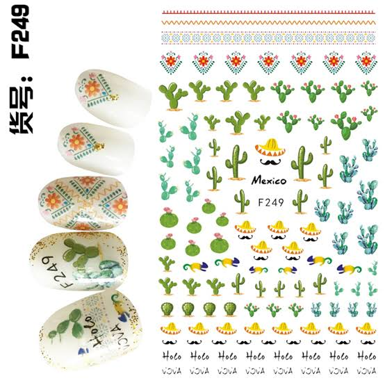 RT-F249 Nail STICKERS