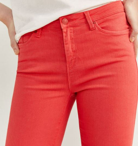 Skinny Cropped Denim Collection Red Jeans